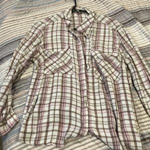 Pink and brown flannel